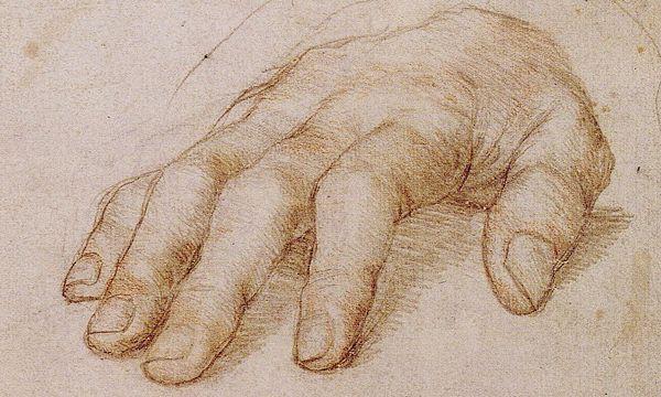 ERasmus' Hand, gezeichnet von Hans Holbein dem Jüngeren / Bild: (c) APA/Public Domain