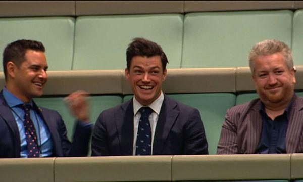Das Parlament bricht nach dem Antrag in Applaus aus. / Bild: APA/AFP/Australian Parliament vi
