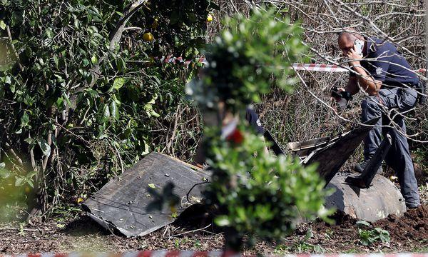 Die Überreste des F16 / Bild: REUTERS