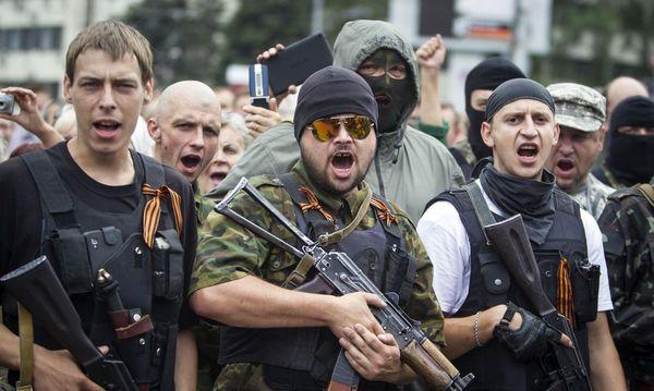Prorussische Separatisten in Doneezk / Bild: REUTERS