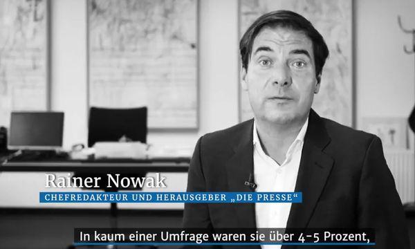 Rainer Nowak im Video-Kurzkommentar zum Thema die Neos /