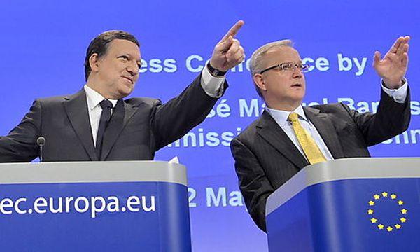Barroso und Rehn / Bild: (c) EPA (Eric Vidal)