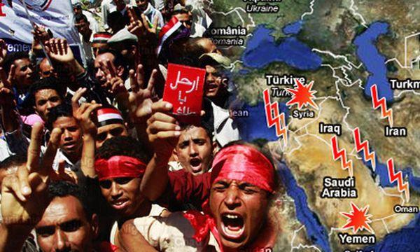 Bild: (c) Die Presse Montage (Reuters/Khaled Abdullah, Google-Map)