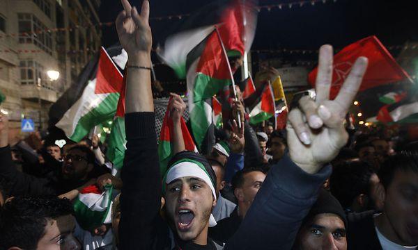 Palästinenser feiern / Bild: AP