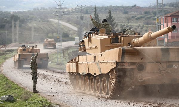 Türkische Panzer. / Bild: REUTERS