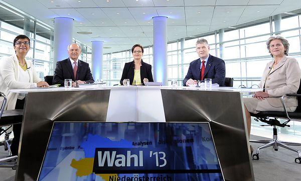 NOE-Spitzenkandidaten / Bild: APA/HERBERT P. OCZERET