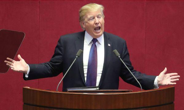 US-Präsident Trump in Südkorea. / Bild: (c) AFP