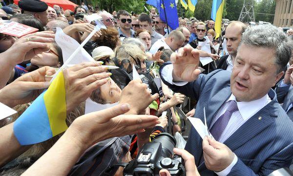 Der nächste Präsident der Ukraine? Für den Industriellen Petro Poroschenko wollen laut Umfragen zwischen 34 und 43 Prozent der Wähler stimmen. / Bild: (c) REUTERS (POOL)