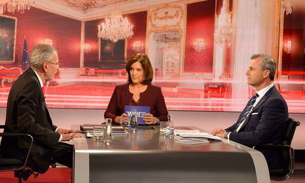 Van der Bellen und Hofer im ORF-Duell / Bild: (c) ORF (Thomas Ramstorfer)