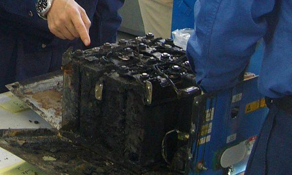 Defekte Batterie eines Dreamliners / Bild: (c) REUTERS (HANDOUT)