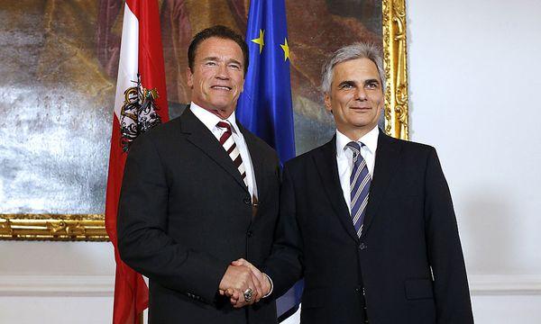 Schwarzenegger, Faymann / Bild: APA/GEORG HOCHMUTH