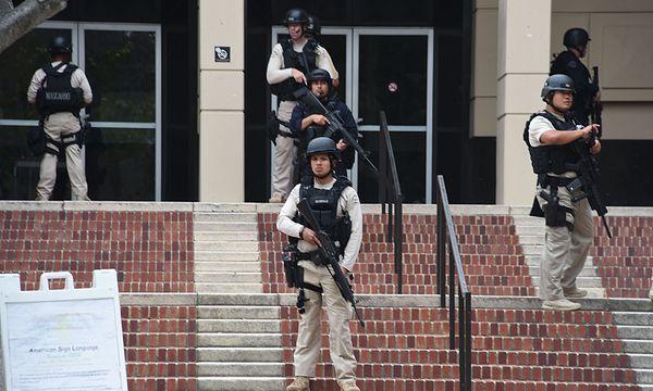 Die Polizei sucht noch nach dem Schützen / Bild: (c) APA/AFP (ROBYN BECK)