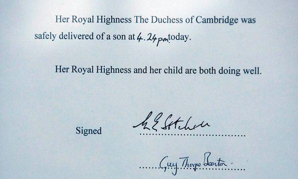 Das Royal Baby ist da / Bild: Reuters