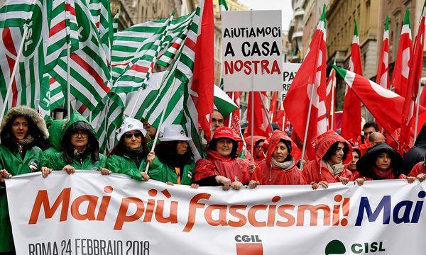 Demonstranten in Rom. / Bild: APA/AFP/ANDREAS SOLARO