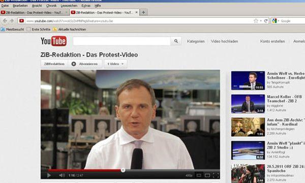 Armin Wolf ist einer von 55 ZiB-Redakteuren, die im Video protestieren.  /