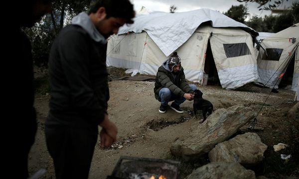 Flüchtlinge auf Lesbos. / Bild: REUTERS