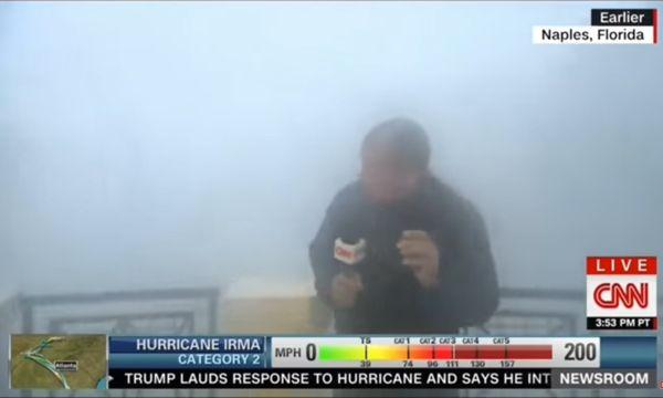 """Chris Cuomo berichtete für CNN von Hurrikan """"Irma"""". / Bild: (c) Youtube/CNN"""