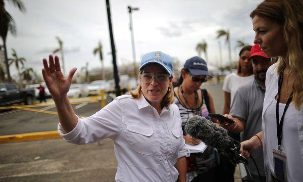 Carmen Yulin Cruz ist Bürgermeisterin von San Juan, sie kritisiert die Ineffizienz der US-Hilfen nach dem Hurrikan. / Bild: REUTERS