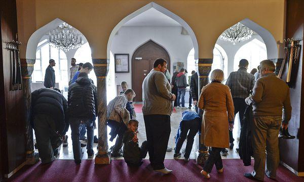 Imam Ramazan Demir (Mitte)  initiierte das Treffen der Imame im Islamischen Zentrum Wien. / Bild: APA/HERBERT NEUBAUER