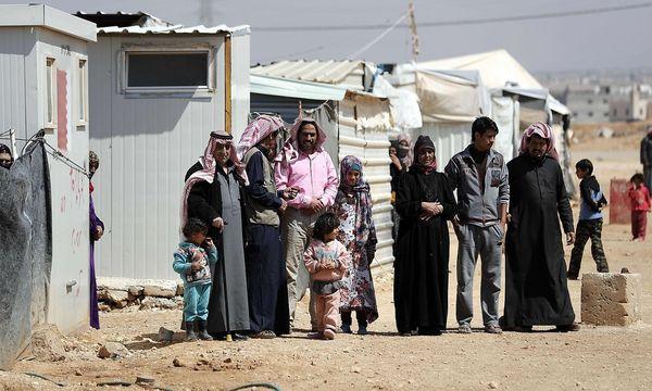 Syrische Flüchtlinge in Jordanien. / Bild: APA/AFP/THOMAS COEX