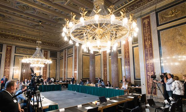 Blick ins Lokal VI., wo der U-Ausschuss stattfindet.  / Bild: APA/EXPA/MICHAEL GRUBER
