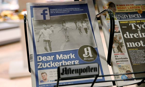 Das Cover von ''AFtenposten'' zeigt das Foto von Nick Ut, das zur Ikone wurde / Bild: (c) REUTERS (NTB SCANPIX)