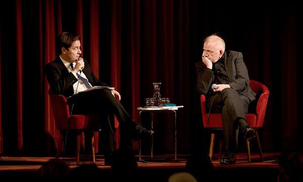 """""""Presse""""-Chefredakteur Rainer Nowak (l.) im Gespräch mit Rüdiger Safranski. / Bild: (c) Clemens Fabry / Die Presse"""