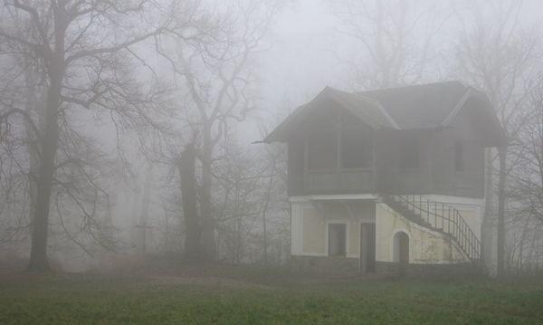 Am Hameau pfeift nicht wie bei Ernst Modeln der Wind, vielmehr lenkt der Nebel die Sicht auf das Naheliegende. / Bild: Karin Schuh