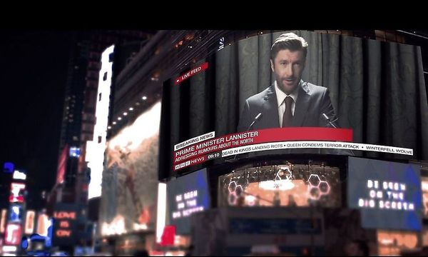 """Szene aus dem Fan-Trailer """"Westeros"""", in dem ein Premiereminister Lannister zum Volk spricht. / Bild: Screenshot"""