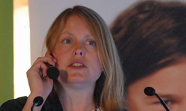 Cheryl K. Olson bei der FROG-Tagung im Wiener Rathaus