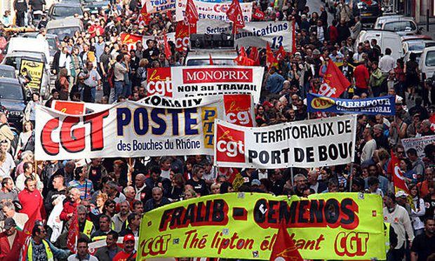 Symbolfoto Streik Frankreich