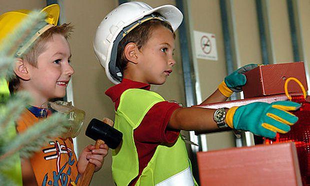 Baustelle Minopolis, Cineplexx palace, Kinder, Arbeit Foto: Clemens Fabry