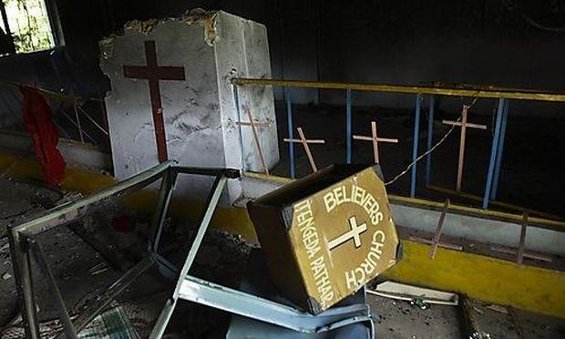 Gewalt gegen Christen in Indien: eine zerstörte Kirche