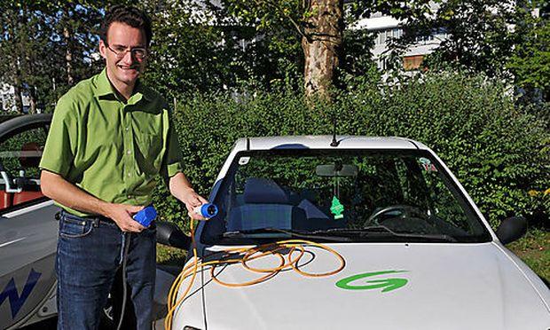 Matthias Koechl, der Mann mit dem Elektroauto