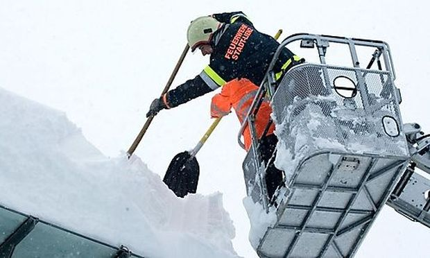 Starke Schneefälle in Kärnten und Osttirol