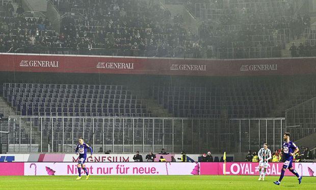 Austria gegen Rapid, das letzte Derby sorgte für einen Polizeieinsatz mit Folgen vor Gericht