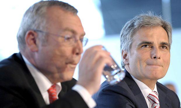 Alfred Gusenbauer (l.) überließ das Finanzministerium im Jänner 2007 der ÖVP, Werner Faymann holte es 2008 nicht zurück.