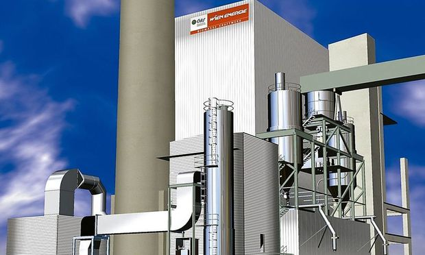 Wald-Biomasse-Kraftwerk in Wien-Simmering