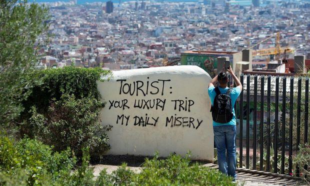 Touristenmassen: Nicht geliebt in Boomtown Barcelona.