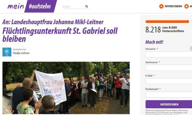 Die Petition hatte am Freitag Nachmittag schon mehr als 8000 Unterstützer