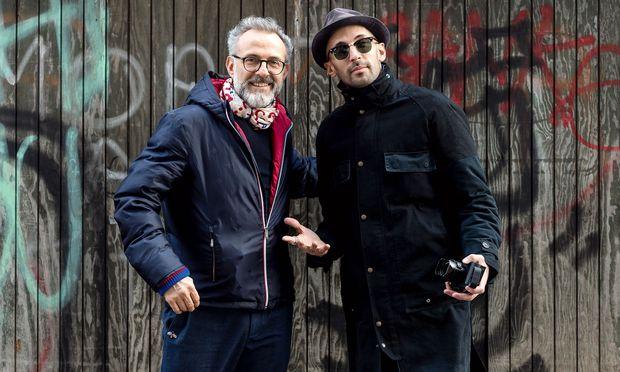 Ein kreatives Team: Massimo Bottura (l.) und der Künstler JR.