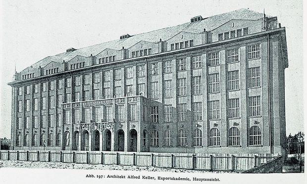 """In der Fachzeitschrift """"Der Architekt 1918/19"""" wurde das Wiener Hochschulgebäude Alfred Kellers in Wort und Bild gerühmt."""