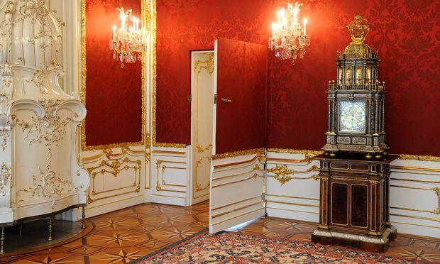 Wer im Endeffekt im Expertenkabinett sitzen wird, ist noch nicht sicher. Im Bild die Tapetentür in der Präsidentschaftskanzlei der Hofburg (Archivbild)