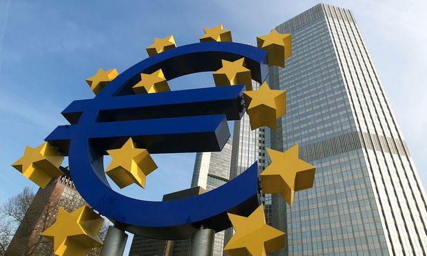 Verwaltungsgebaeude  der europaeischen Zentralbank in Frankfurt/Main (EZB)
