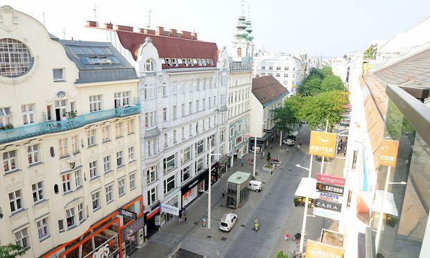 Blick auf die Mariahilfer Straße.