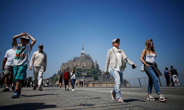 Touristen in Frankreich.