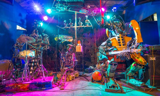 The One Love Machine Band by Kolja Kugler, auf der Maker Faire Vienna 2016 zu sehen