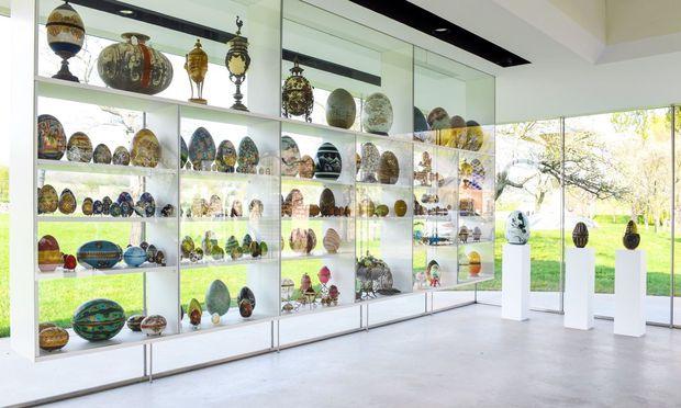 Eines der Schmuckstücke im Wander-Bertoni-Freilichtmuseum, Gritschmühle 1 in Winden am Neusiedler See: Das Eiermuseum und das Areal sind ganzjährig zu besichtigen.
