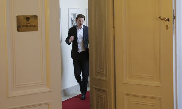 Austrian Foreign Minister Kurz arrives for his first cabinet meeting in Vienna