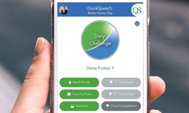 QuickSpeech ermöglicht effizientes Lernen am Smartphone.
